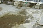 防水層の膨れ、亀裂、排水ドレン詰り